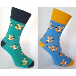 Dospelé ponožky Líška