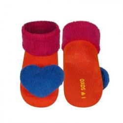 Froté ponožky s hrkálkou 0-12 mesiacov