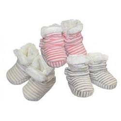 Detské čižmičkové papučky pásikavé