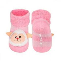 Froté ponožky s hrkálkou Ovečka
