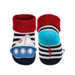 Froté ponožky s hrkálkou Loďka